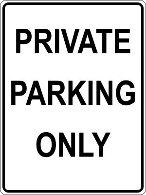 Private Parking Only sign