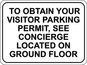 Visitor Parking Permit Sign