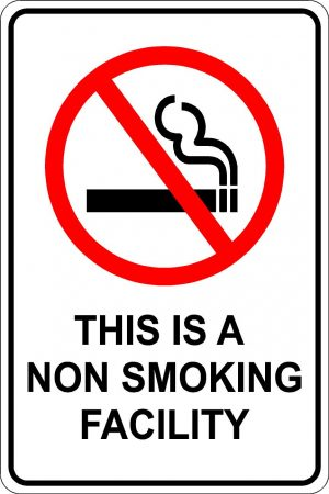 This is a non smoking facility sign