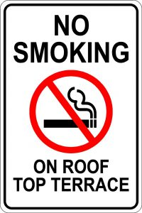 No Smoking on Roof Top Terrace
