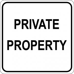 Private Property Sign - Black