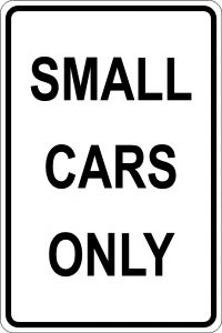 Small Cars Only - Black