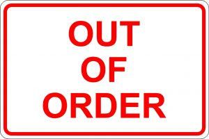 Out of Order Sign